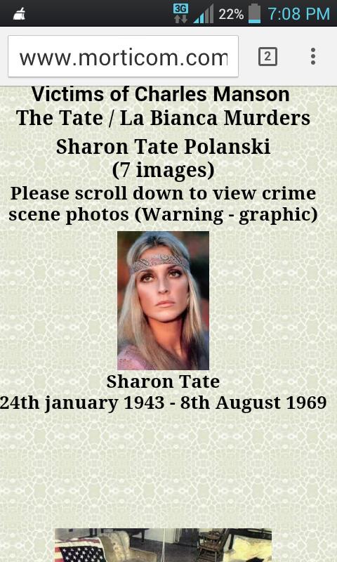Sharon Tate Murder hoax   danielsion's Blog